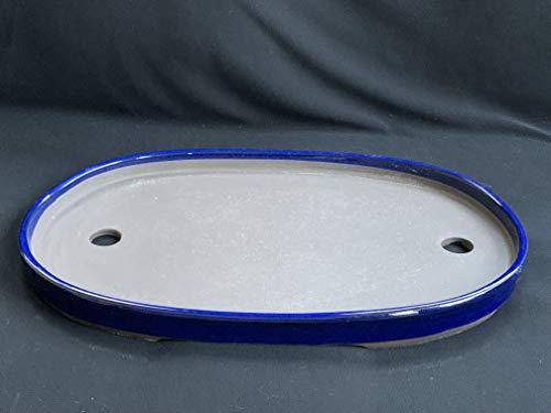 Kotobuki Japanese Glazed 14.5' Bonsai Oval Pot : A25-52