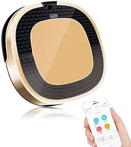 Perfect Zhoumei robot stofzuiger met Smart Mapping Dual Remote En App controle sterke zuigkracht zelfopladende Goed for Pet Hair Low poolkarpet harde vloeren (Color : Gold)