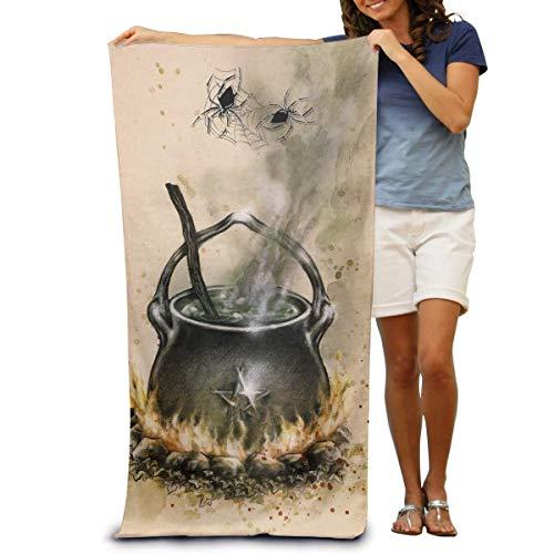 Hotyle Caldero Wicca Star Pentagram Toallas de baño de Playa temáticas 80X130 cm