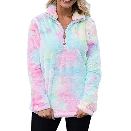 MINIKIMI pluche jas dames oversize winter warm sweatshirt teddy fleece pullover pluizig bont lange mouwen sweater rits jas cardigan