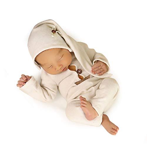 Foryora Newborn Photography Props Outfits – 2Pcs Handmade Set Baby Boy Girl (White)