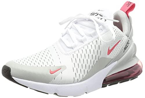 Nike Air MAX 270, Zapatillas para Correr Hombre, White Lt Fusion Red Grey Fog Black, 43 EU