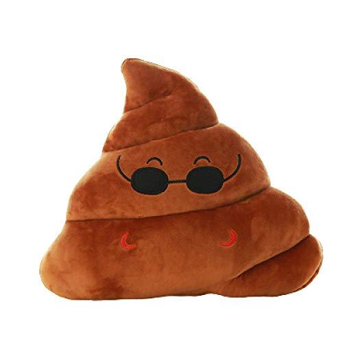 Cojín de 35 cm con forma de Poo de peluche para niños y amigos, 30 x 35 cm, gafas de sol
