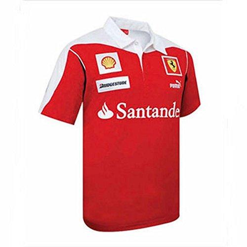 FERRARI Polo pour homme Équipe Scuderia Rouge Taille M