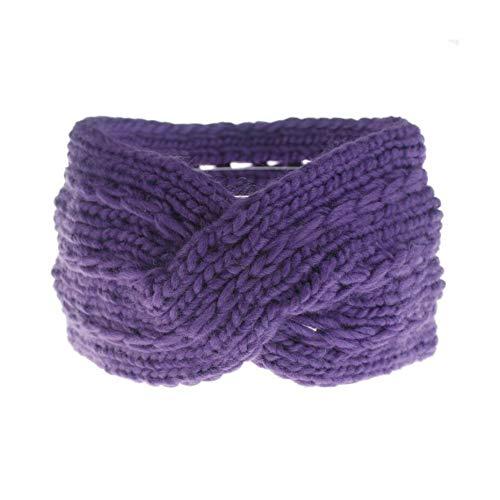 HUIQING Winter Frauen Haarband Turban Stirnband Bogen Knoten Gestrickt Ohrenschützer Damenmode Stirnband Accessoires