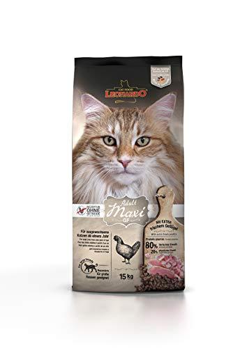 Leonardo Adult GF Maxi [15kg] Katzenfutter   Getreidefreies Trockenfutter für Katzen   Alleinfuttermittel für große Katzenrassen ab 1 Jahr