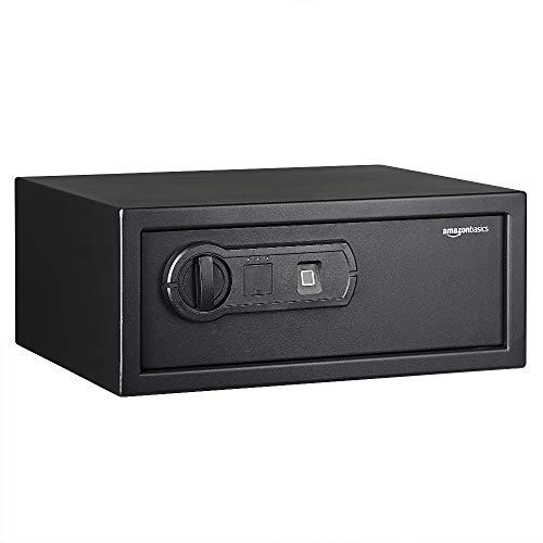 Amazon Basics - Caja fuerte con lector biométrico de huella dactilar - 19 l