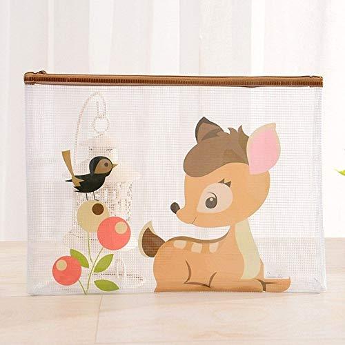 folder1pc A5 Cartoon Animals PVC Document Bag File Folder Waterproof Transparent Bag School Office Supplies,G
