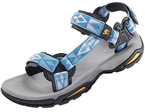 CAMEL CROWN Sandali Sportivi Donna, Scarpe da Arrampicata Escursionismo Trekking Scarpe Acqua Estate Piatto Walking Sandali Antiscivolo Traspiranti Estivi Spiaggia