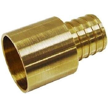"3//4/"" PEX x 1/"" Female Sweat Adapter LEAD-FREE Brass Crimp Fitting"