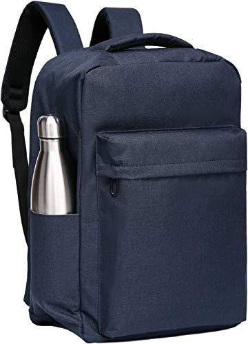 SAKUTANE Mochila para portátil con 11 bolsillos, impermeable, ligera, de 17 pulgadas, para hombre y mujer