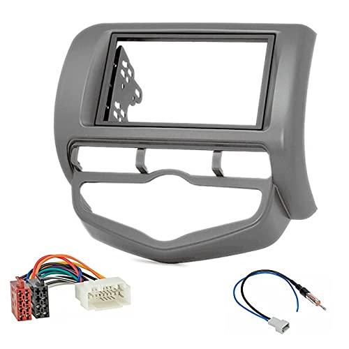 Sound Way - Kit Installazione autoradio 2 DIN Adattatore Radio per Honda Fit, Jazz 2002-2008 - KA11-385