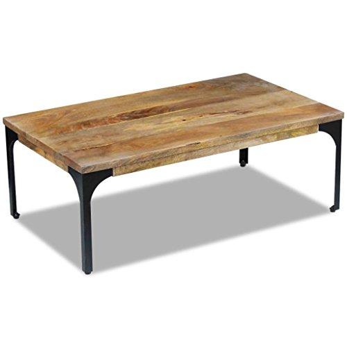 4. VidaXL - Mesa de centro de madera y acero