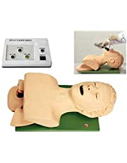 D&F Medio Cuerpo Intubación Maniquí con Dispositivo de Alarma Dental,Manejo de vía aérea para Enfermería Médica y Suministros Educativos