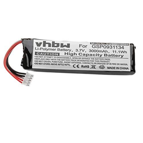 vhbw Batería Compatible con JBL Flip 3 (JBLFLIP3GRAY) Bluetooth, Altavoz, reemplaza JBL GSP872693 - (polímero de Litio, 3000mAh, 3.7V)