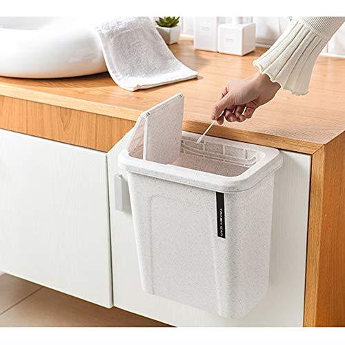Nileco 8 Liter Opknoping Prullenbak, Verborgen Vuilniszak Vuilnisbak Automatische Terugkeerdeksel Afvalmanden In kast Vuilnisbak Voor Keuken