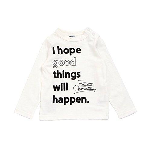 BREEZE(ブリーズ) I hope good Tシャツ オフホワイト 100cm 子供服