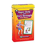 Super Duper Publications | Upper Body and Core Strength Fun Deck | Occupational Therapy Flash Cards | Gross Motor Movement Activity | Educational Learning Materials for Children