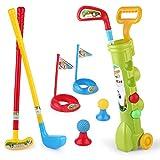 Juego de golf de juguete para niños Infantil Campo de juego de palos de los juguetes del bebé al aire libre entre padres e hijos Deportes Juguetes Kinder bola de juguetes for niños Club de Golf Set