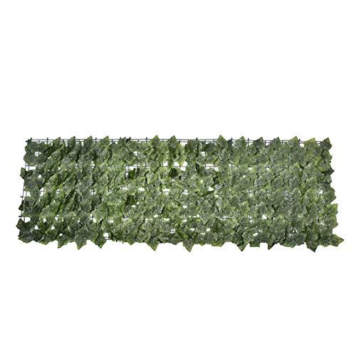 Sichtschutzhecke, Sichtschutz Balkon Efeu Blätter, Künstliche Hecke, Kunststoff Künstliche Hecke Sichtschutzhecke Pflanzen Hecke Wanddekoration Gartenzaun Sichtschutz Zaun