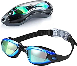 Fephant Swimming Goggles, Mirrored Swim Goggles No...