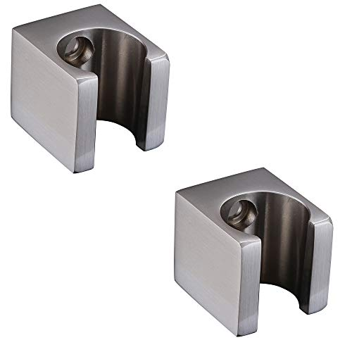 XVL Handheld Shower Holder Shower Head Bracket Wall Mounted 2 Pieces, Brushed XL50B-2