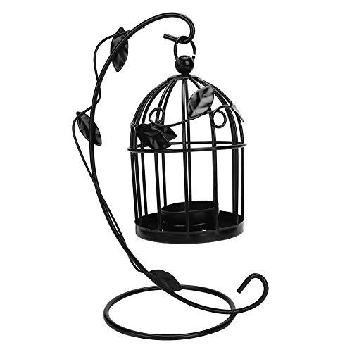 Changor Beautifully Candle Holder, Birdcage Iron Made of Iron(Black)