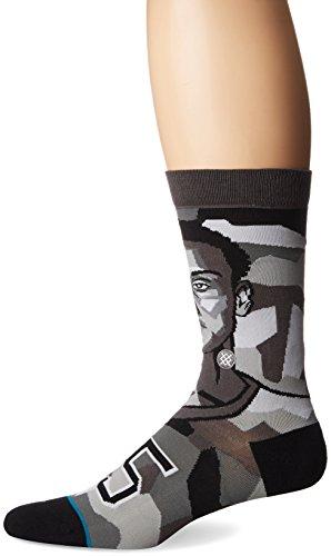 Stance Men's Mosaic NBA Sixers Ben Simmons Crew Socks Gray L
