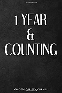1 Year & Counting - Guided Sobriety Journal: Sobriety Gift for Men & Women, Self Help 4-Month Tracker for Alcoholism, Drug Addiction Recovery and Living Sober