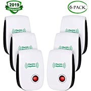 VEPOWER 2019 Upgraded Ultrasonic Electronic Pest Repellent, Pest Repeller Plug in Indoor Usage, Best Pest Controller to Bugs, Insects Mice, Ants, Mosquitoes, Spiders, Rodents and Roach(6 Packs)