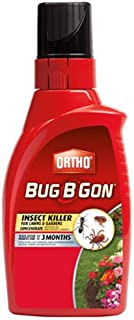 Ortho Bug B Gon Insect Killer for Lawns and Gardens Concentrate (Kills 230+ Insects Including Mosquitoes, Fleas, Ticks, & Ants. Use in Lawns, Trees, Shrubs, Vegetables, and Fruit Trees) 32oz