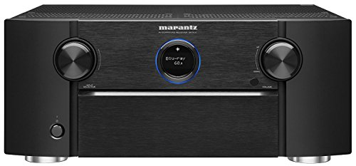 Marantz SR7011 9 2 Channel Full 4K Ultra HD AV Receiver with Built in Heos Wireless Technology Featuring Bluetooth and Wi Fi, Works with Alexa