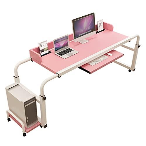 KLMN Mesa de Cama con Ruedas, ángulo y Altura de Escritorio Ajustables, computadora portátil con Ruedas para el hogar, Escritorio para computadora portátil, Mesa de Cama