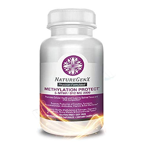 NatureGenx - Methylation Protect - Dr Formulated - MTHFR Support Supplement with Quatrefolic 5-MTHF (Active Folate) and Methylcobalamin (Active B12) - 60 Veggie Methyl folate Capsules, NON GMO, No soy