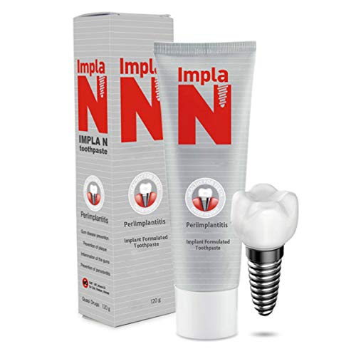 IMPLA-N Toothpaste for Oral Care, Implants, and Sensitive Teeth and Gums, Low-Abrasive with Fluoride, Infused with Vitamin B6 and Myrrh, Vegan Friendly