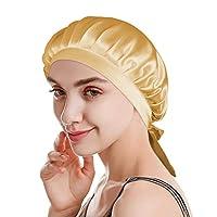 ナイトキャップ シルクキャップ ヘアケア ロングヘア 対応 ナイト キャップ シルク100% レディース 快眠グッズ 睡眠 就寝用 帽子 保湿 紐付き プレゼント 母の日 サイズ調節可能 寝癖帽子 19匁シルク