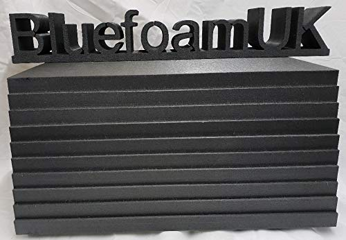 20mm Thick Modelling Foam Sheets by BluefoamUK   Hard and Dense Grey (Used to Be Blue) Insulation Styrofoam - Give Your Craft or Hobby Project The Quality it Deserves. Pack of 10 A3 Sheets