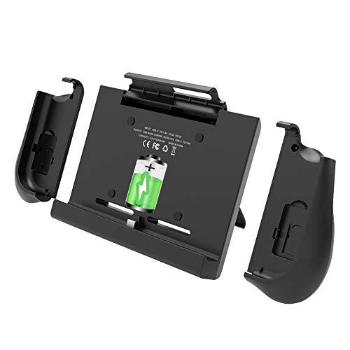 BigBlue 10000mAh Akku-Ladegerät für Nintendo Switch, Tragbare Powerbank SwitchCharge mit Joy-Con-Griff, Anpassbarer Ständer und Card Steckplatz, Akku Hülle für Nintendo Switch