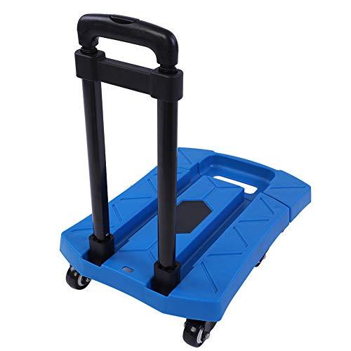 Carrello pieghevole a 6 ruote, carrello pieghevole per la spesa con manico regolabile/telaio telescopico, carico massimo 400 kg
