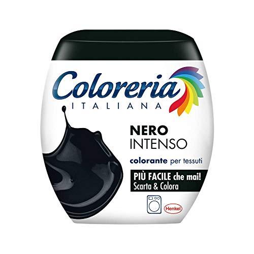 Coloreria Italiana Colorante Tessuti e Vestiti In Lavatrice, Nero Intenso, 350g