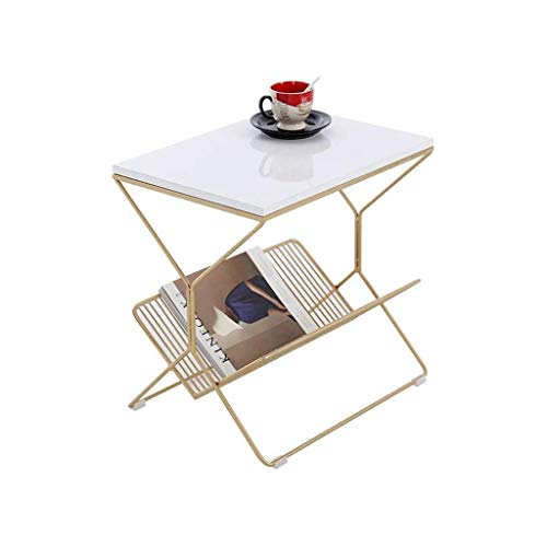 Daily Equipment Office Furniture Side Table Balcony Living Room Reading Table Mirrored Bedside Tables Firm Durable Sofa Tables Size: 50 * 36 * 50CM Pedestal Tables (Color : Black Size : 50 * 36 * 5
