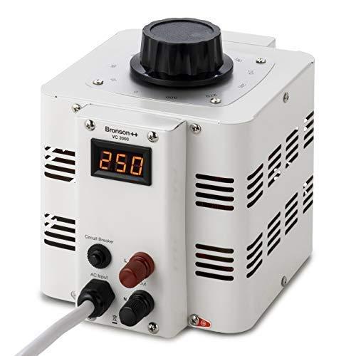 Bronson++ VC 3000 Stelltransformator Stelltrafo Variac - In: 230V - Out: 0-300V - 3000 Watt