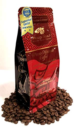Mexico Real Cafe: Pluma Mountain Oaxaca Coffee Premium Mexican Award Winning Specialty Coffee. Artisan Roast Coffee. 100% Gourmet Arabica Coffee. Notes: Sweet Plums, Red Berries. Whole Coffee Beans