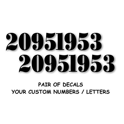 ID Hood Bumper Numbers Decal Sticker to Restore Military Truck Army Marines, M37 M38 1' Custom Serif Text in Flat Matte Black