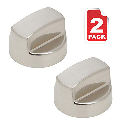 811195 805328 KIP5D44 5D44 B002MFNQ34 Pro Ventilation Hood Knob Replacement Part Fit 56 Models for Sub-Zero Wolf in Silver Color by Reyhoar (2 Pack)