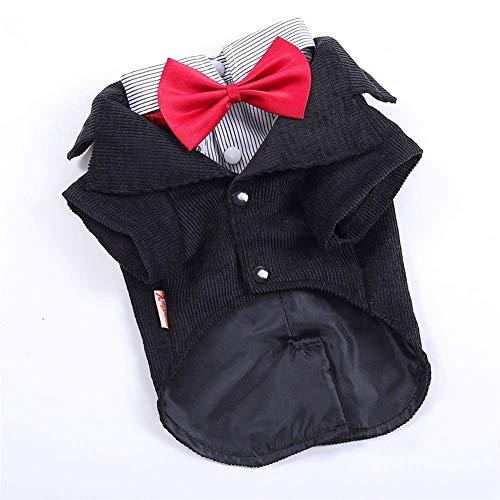 POD Tierzubehör Kleintiere Hunde-Bekleidung Western Style Suits Fliege Welpen Kostüm Haustier Hunde-Bekleidung,L