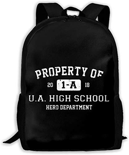 TTmom Schulrucksack,Schüler Bag,Rucksack Damen Herren Property Of 1-A U.A. High School My Hero Unisex Backpack Shoulder Bag School Backpack Travel Bags Laptop Backpack
