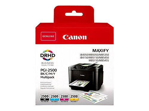 Canon PGI-2500 BK/C/M/Y Druckertinte Multipack - für MAXIFY Drucker ORIGINAL