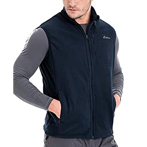 Clothin Men's Spring Full Zip Polar Fleece Vest