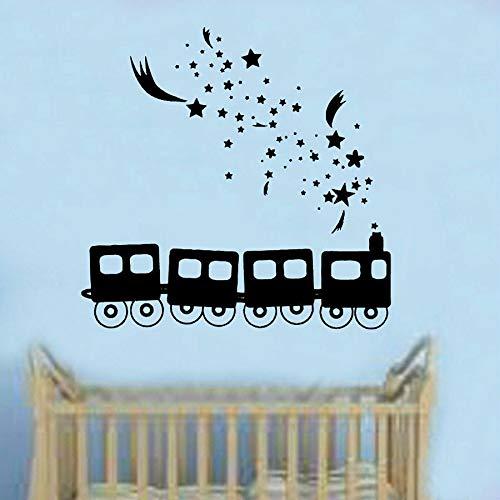 Dream train etiqueta de la pared arte niños niña niño dormitorio bebé habitación jardín de infantes decoración de interiores vinilo ventana calcomanía mural